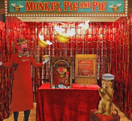 Art in the Market - Anna Bean - Monkey, Pig and Pie